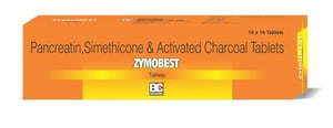 Pancreatin Simethicone & Activated Charcoal Tablets