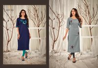 Aditi Vol 8 Rubby Silk With Embroidery Work Kurtis