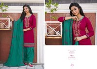 Patiyala House Vol 81 Ladies Party Wear Cotton Satin with Work Dress Materials