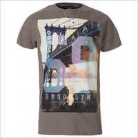 Mens Half Sleeves Printed Cotton T-Shirts