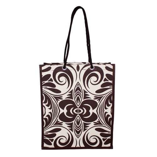 PP Laminated 10 Oz Natural Canvas Tote Bag With Rope Handle