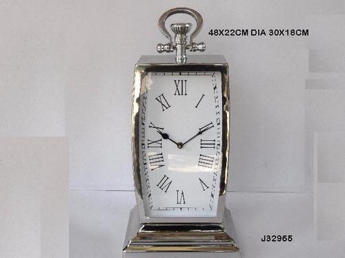Steel Table Clock Mirror Polish