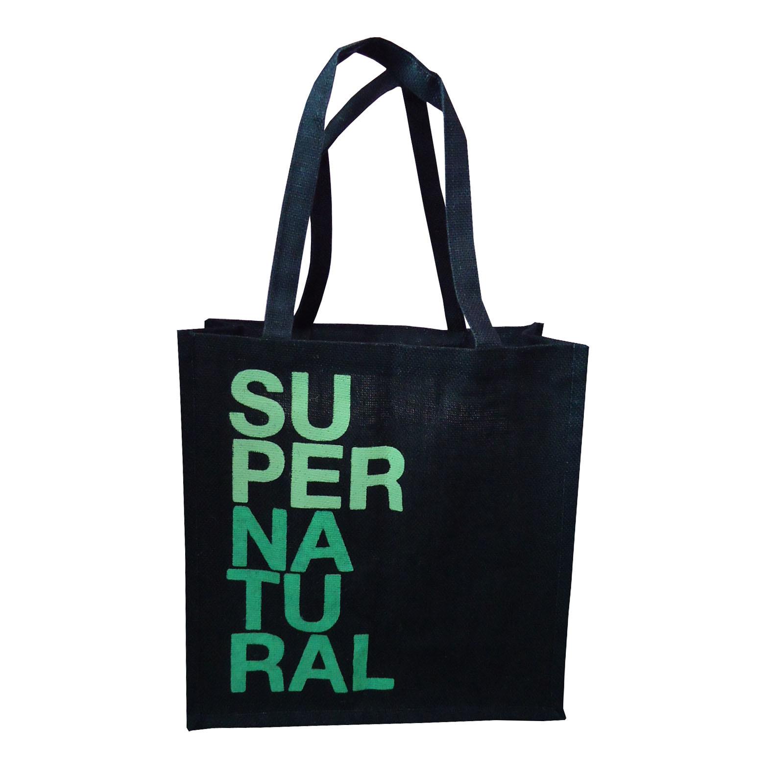 PP Laminated Jute Bag With Jute Self Handle