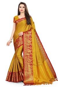 Poly Silk Saree  Woven Banarasi Jacquard