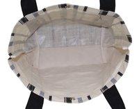 12 Oz Natural Canvas / PP Laminated Jute Combined Tote Bag