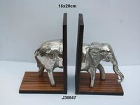 Book End Aluminum Elephant Figure