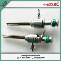 ADDLER Laparoscopic Multi-functional 10.5mm And 5.5mm SS Trocar Cannula Oblique Pyramidical