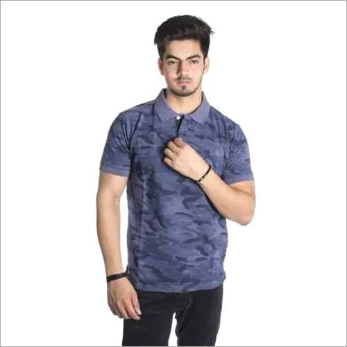 Mens Cotton Collared T-Shirt