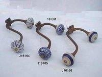 Wall Hooks With Ceramic Knob