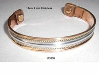 Copper Magnetic  Bracelets With Steel Pattern