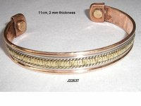 Copper Magnetic  Bracelets With Brass