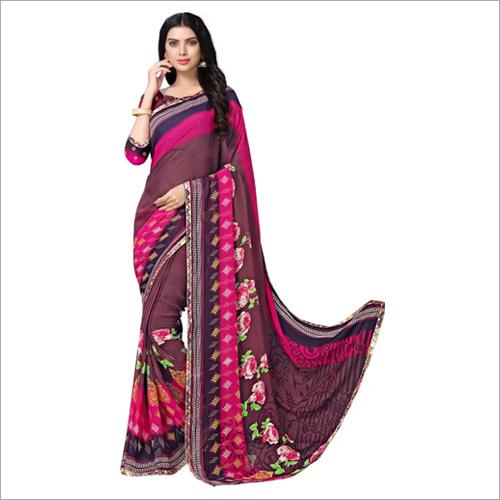 Ladies Multicolor Printed Saree