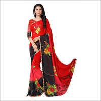 Ladies Floral Print Saree