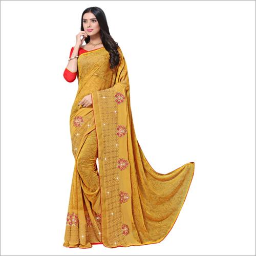 Ladies Embroidered Work Saree