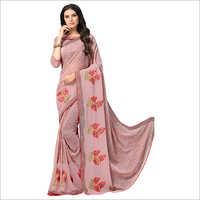 Ladies Party Wear Embroidered Work Saree