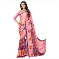 Ladies Stylish Embroidered Work Saree