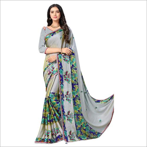 Ladies Fashionable Embroidered Work Saree