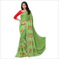 Ladies Heavy Embroidered Work Saree
