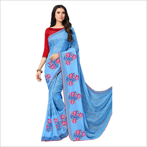 Ladies Modern Embroidered Work Saree