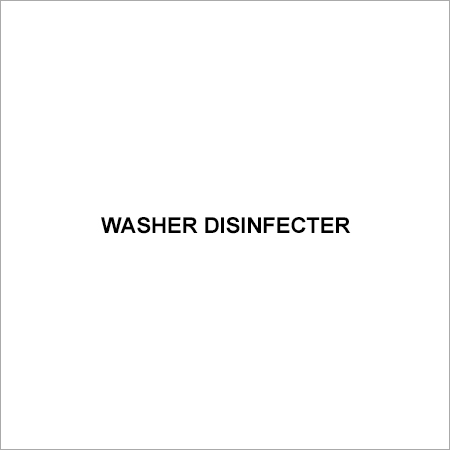 Washer Disinfecter