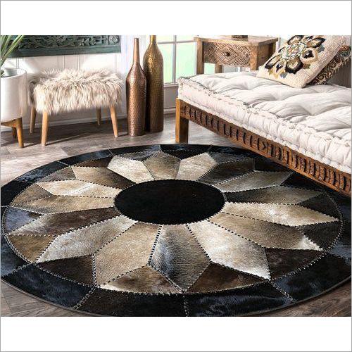 Round Leather Carpet