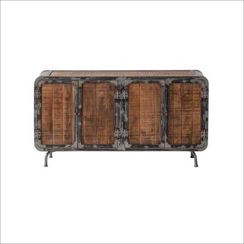 Wooden Dottie Rustic 4 Door Long Sideboard