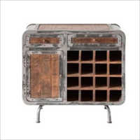 Wooden Dottie Rustic Bar Storage Cabinet