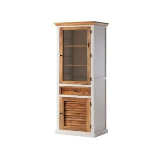 Wooden White Mania Display Cabinet