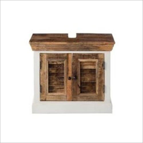 Wooden White Mania Bedside Cabinet