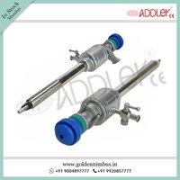 ADDLER Laparoscopic Trocar Cannula Oblique Pyramidal Multi-functional 10.5mm And 5.5mm SS
