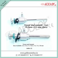 ADDLER Laparoscopic Trocar Cannula Oblique Pyramidal Multi-functional 10.5mm And 5.5mm SS