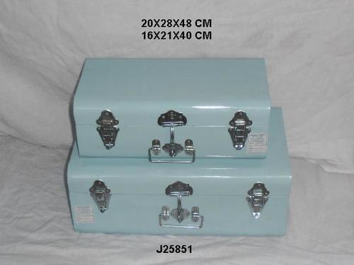 Powder Coated Storage Box Trunk Set Of 2 Pcs