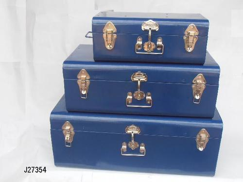 Powder Coated Storage Box Trunk Set Of 3 Pcs