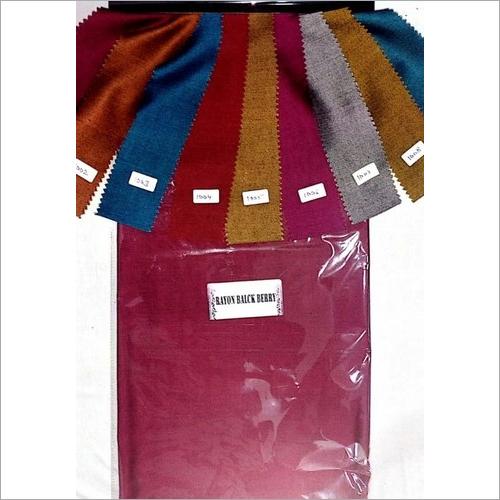 58 Inch Panna Black Berry Rayon Fabric