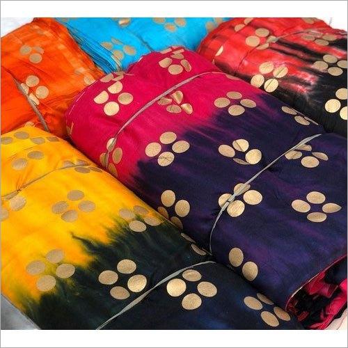 Foil Printed Rayon Fabric