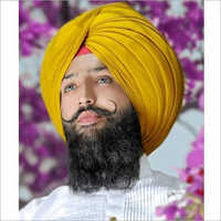Mustard Plain Punjabi Turban Cloth