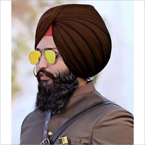 Brown Plain Punjabi Turban Cloth