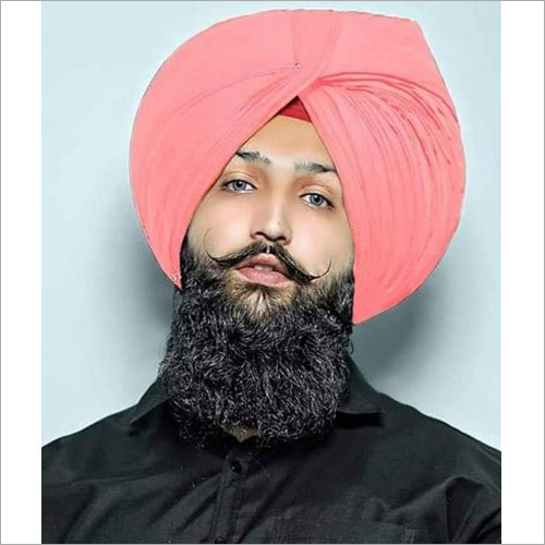 Light Peach Plain Punjabi Turban Cloth