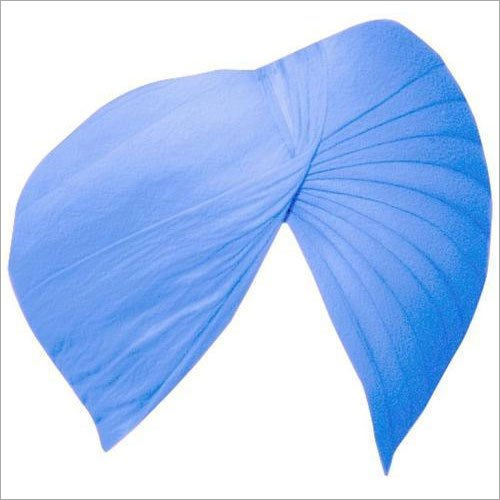 Blue Plain Punjabi Turban Cloth