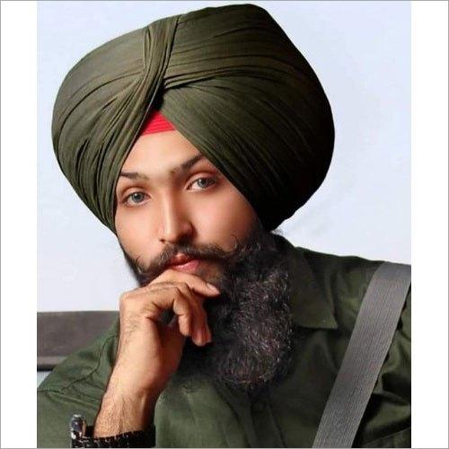 Olive Green Plain Punjabi Turban Cloth