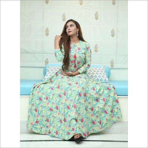 Ladies Designer Printed Rayon Kurti