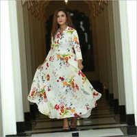 Ladies Floral Print Rayon Kurti
