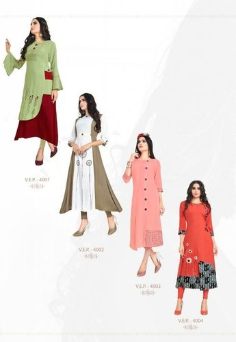 Payal Vol- 4 New Range Of Straight Style Rayon Printed Kurtis