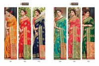 Majari Silk Designer Bridal Collection Silk With Siroski Work Sarees