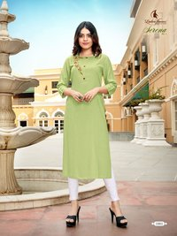 Serena vol-2 Branded 14 kg Rayon With Embroidery Work Kurtis