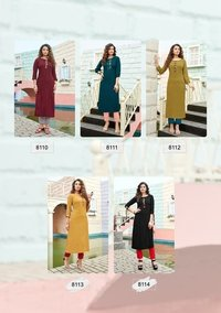 Instagirl Vol 5 Viscose Weaving With Khatli Work Kurtis With Pant