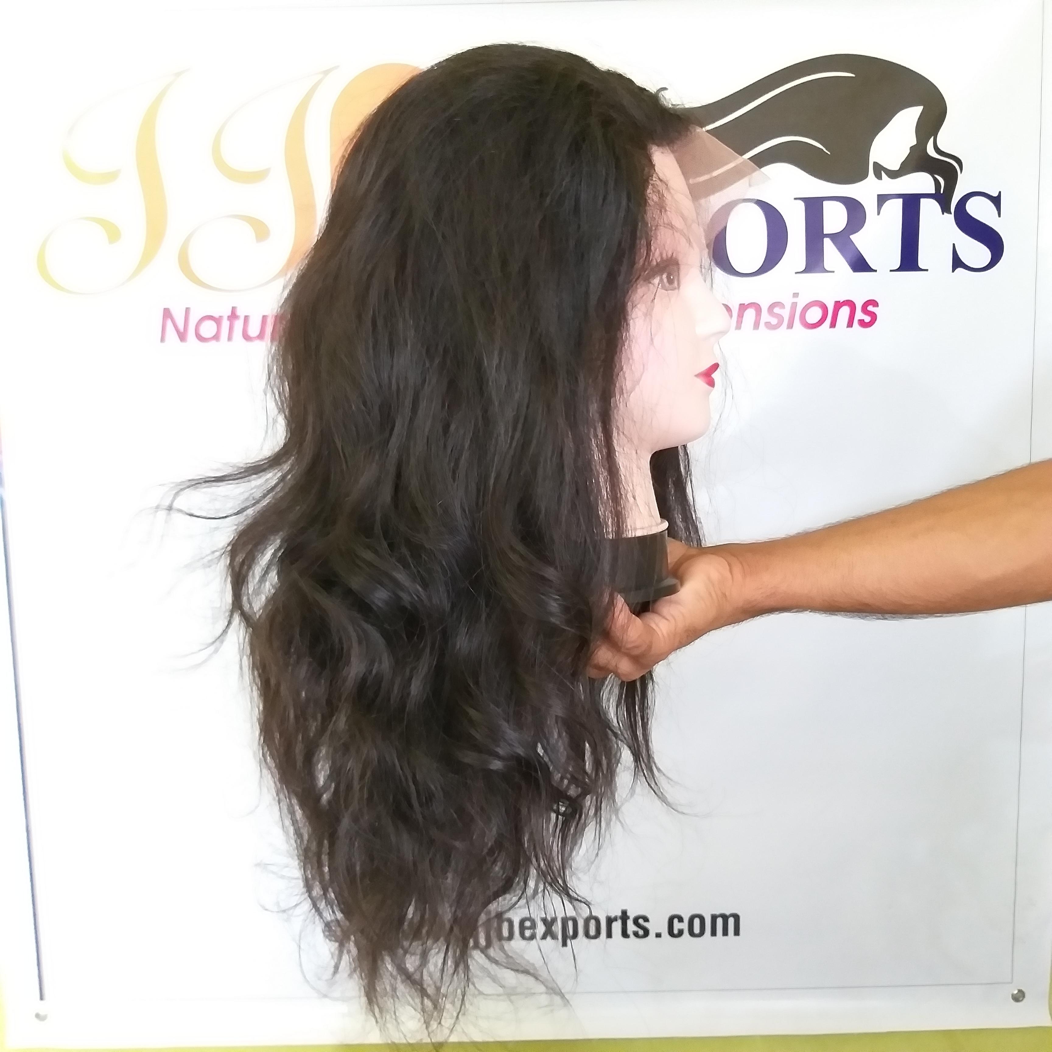 Natural Human Hair Full Lace Wigs