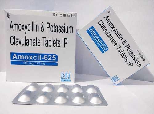 Amoxicillin 500mg + Clavulanic Pottassium 125mg (Amoxcil-625 10s Pack)