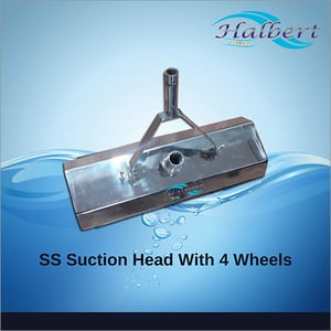 Suction Head With 4 Wheels In Stainless Steel