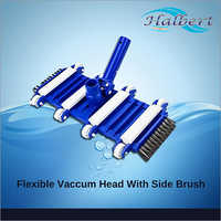 Flexible Vaccum Head With Side Brush For In Ground Pool